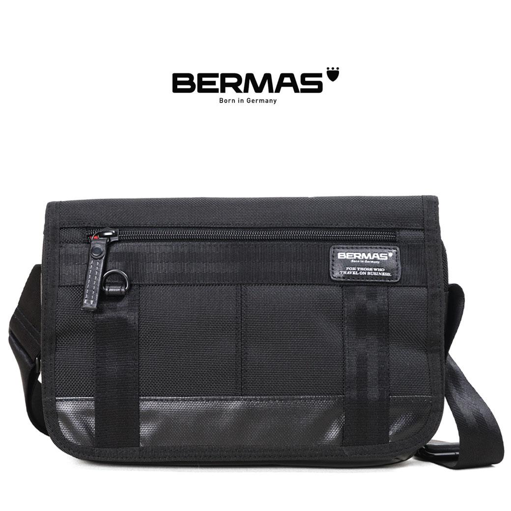 ショルダーバッグ メンズ ブランド 横型 BERMAS バーマス バウアー3 タブレット対応 斜めがけ バッグ 肩掛け 小さめ 日本製 撥水 メンズ バッグ 海外 旅行 通勤 バッグ