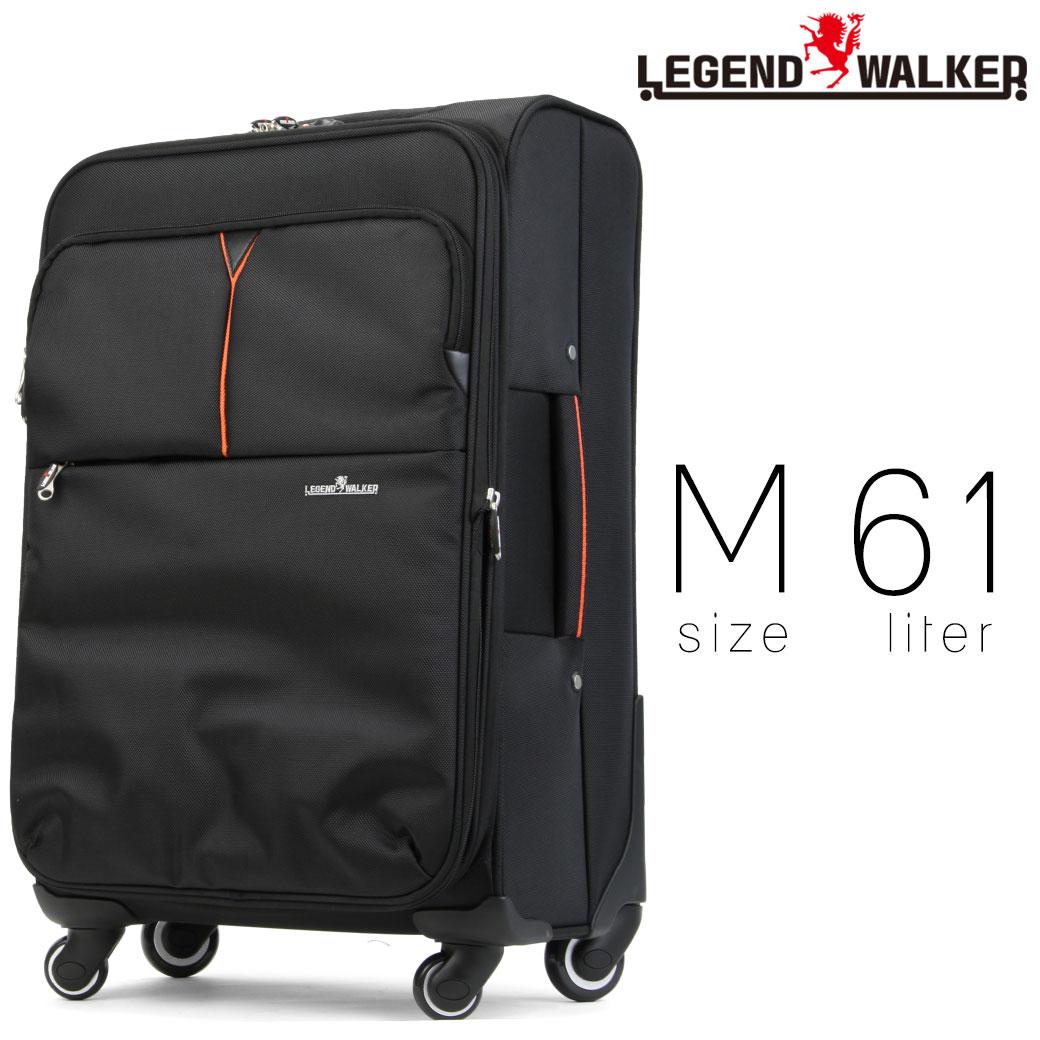 【全商品クーポン配布中】 スーツケース メンズ キャリーケース Legend Walker レジェンドウォーカー SOFT CASE ソフトケース キャリーバッグ 旅行 出張 ナイロン TSAロック 4輪 メンズバッグ ブランド
