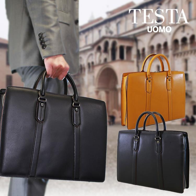 【全商品クーポン配布中】 ブリーフケース メンズ ビジネスバッグ TESTA テスタ 本革 牛革 A4 三方開き 日本製 バッグ メンズバッグ ブランド プレゼント ランキング ギフト 通勤バッグ