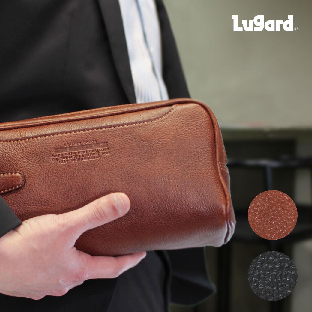 セカンドバッグ メンズ クラッチバッグ Lugard ラガード NEVADA ネヴァダ 本革 牛革 軽量 日本製 メンズバッグ ブランド プレゼント ランキング ギフト ダブルファスナー 青木鞄