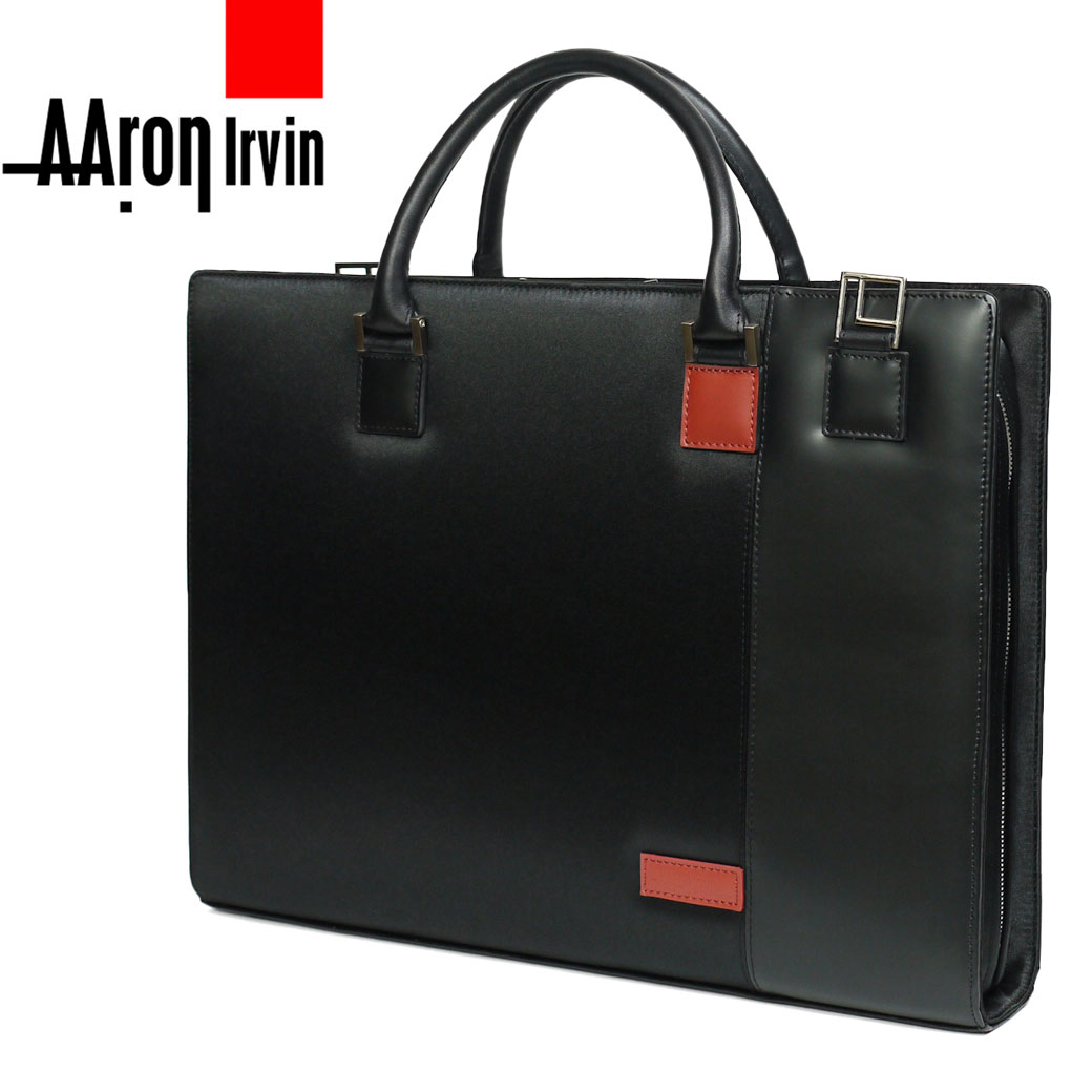 【全商品クーポン配布中】ブリーフケース ビジネスバッグ メンズ A4 Aaron Irvin アーロンアーヴィン マイクロファイバービジネス AA-MLDB 2way ブラック 革付属 タブレット対応 ブランド プレゼント 鞄 かばん カバン bag 送料無料 business bag men's