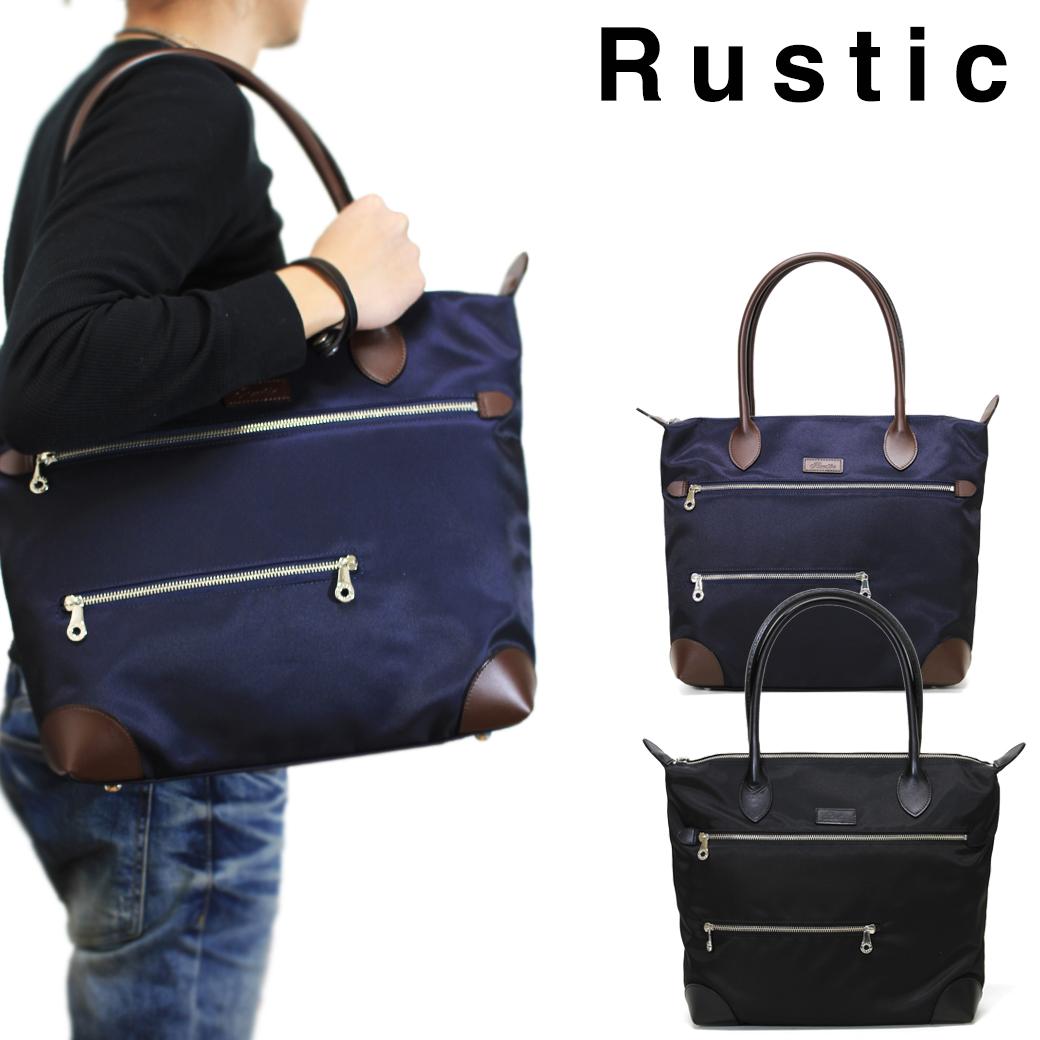【全品クーポン&キャッシュレス5%対象】トートバッグ メンズ 大きめ ブランド Rustic ラスティック Cool クール 革付属コンビ A4 横型 軽量 日本製 撥水 メンズバッグ バッグ プレゼント 鞄 かばん カバン bag 送料無料 men's