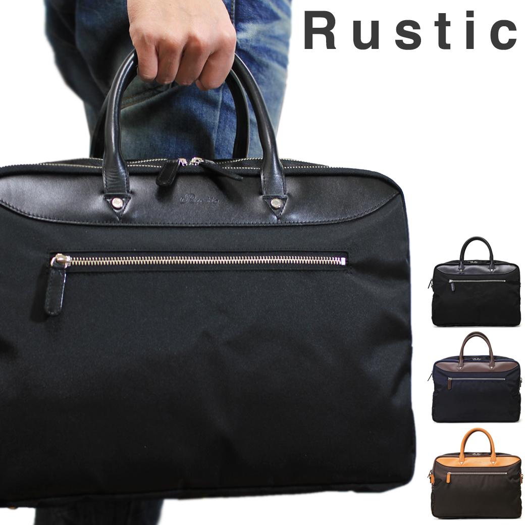 ビジネスバッグ ブリーフケース メンズ Rustic ラスティック Select セレクト 革付属コンビ 2WAY 3ルーム A4 ショルダーバッグ ショルダー付 軽量 日本製 撥水 メンズバッグ バッグ ブランド ランキング プレゼント 通勤バッグ