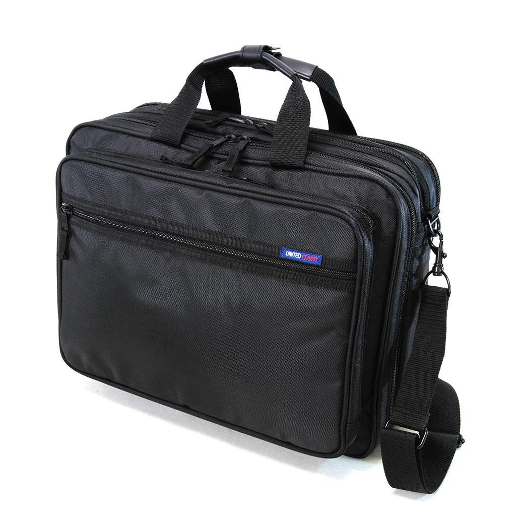 ブリーフケース ビジネスバッグ メンズ UNITED CLASSY ユナイテッドクラッシー ナイロン 3WAY B4 横型 PC対応 ショルダーバッグ ショルダー付 マチ拡張 三方開き リクルート バッグ メンズバッグ ブランド プレゼント 鞄 かばん カバン bag 大容量 通勤バッグ nylon men's