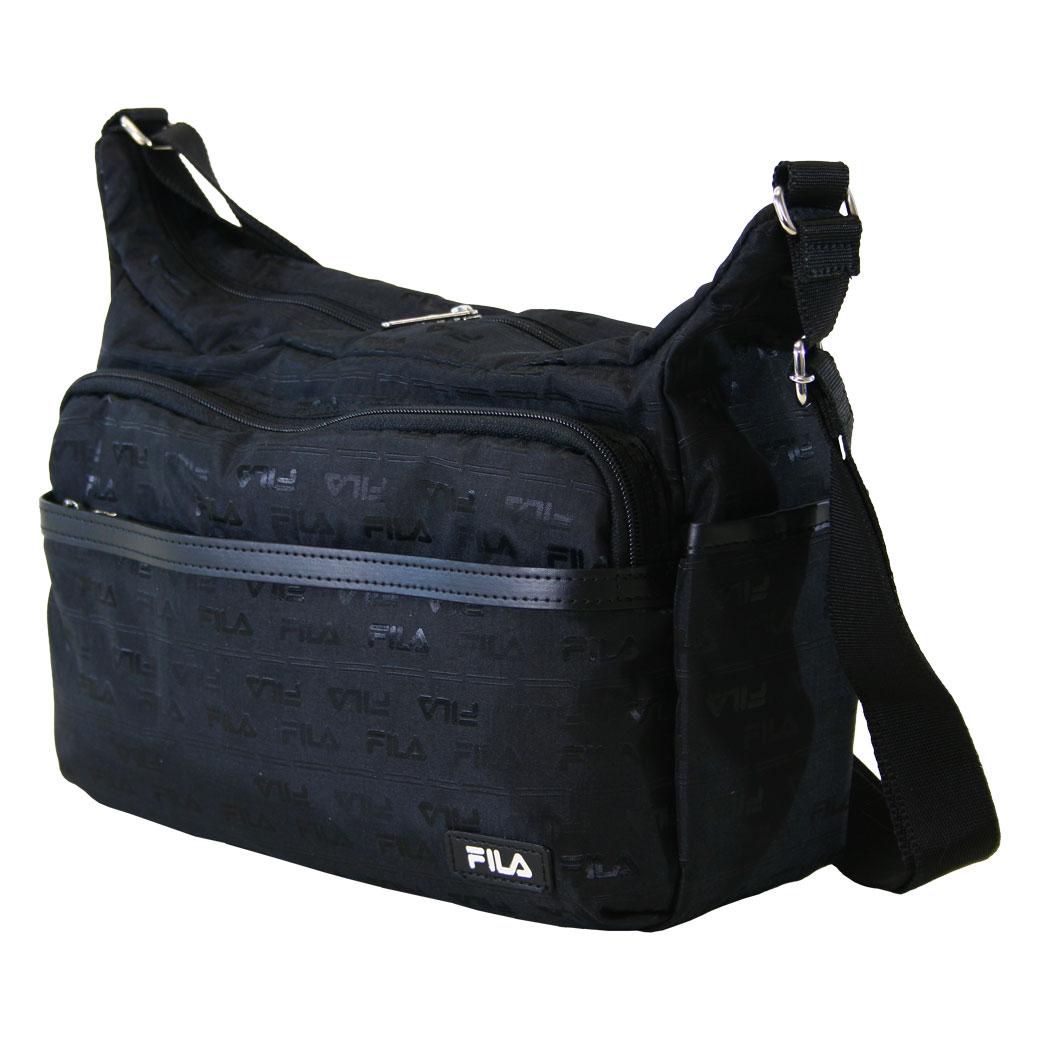 【全品クーポン&キャッシュレス5%対象】ショルダーバッグ メンズ FILA フィラ Jacquard ジャカード 肩掛け 斜めがけバッグ ナイロン A4未満 横型 軽量 バッグ メンズバッグ ブランド プレゼント 鞄 かばん カバン bag 海外旅行バッグ men's nylon