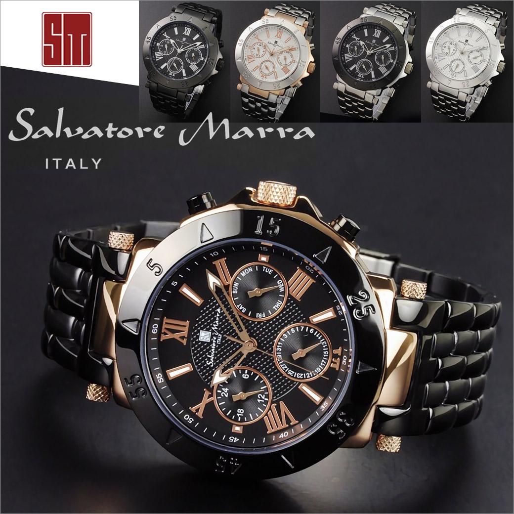 ●【腕時計】salvatore marra サルバトーレマーラ SM14118メンズウォッチ 腕時計 日付曜日表示あり 10気圧防水 ギフト あす楽ブランド 通販