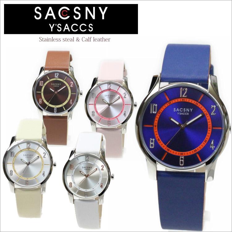 ●【ラッピング無料】腕時計 SYA-15095 サクスニーイザック SACSNY Y'SACCS メンズ レディース 男女兼用 革 レザーベルト 3気圧防水 時計 オシャレ シンプル 通販ブランド プレゼント