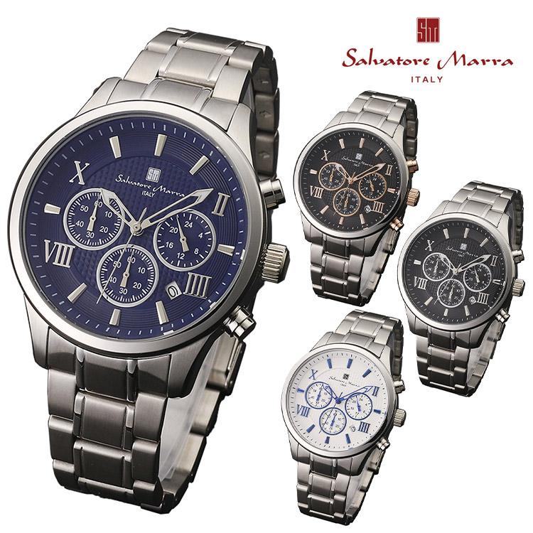 腕時計 Salvatore Marra SM15102 メンズ腕時計 サルバトーレマーラ 時計 クロノグラフ クォーツ レザーベルト ビジネス カジュアル 通販 クリスマス