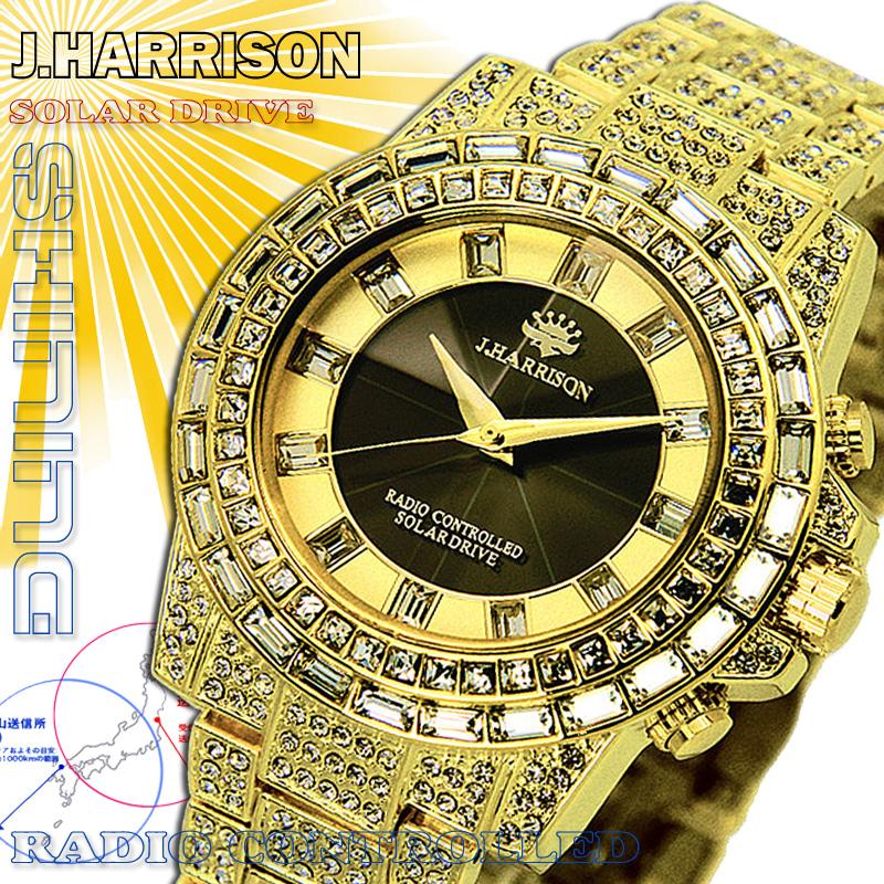 腕時計 J.HARRISON ソーラー電波腕時計 JH-025GB メンズジョン・ハリソン ジョンハリソン john harrison 電波時計 ソーラー 時計 おしゃれ 通販