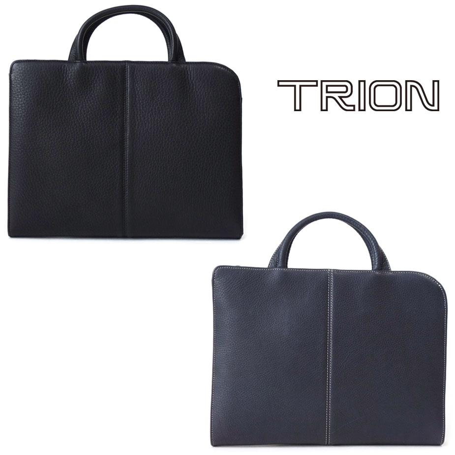 《お買い物マラソンSALE》ブリーフケース メンズ 本革 グローブレザー グラブレザー TRION トライオン a4サイズ 男性用 紳士用 ブリーフバッグ 書類鞄