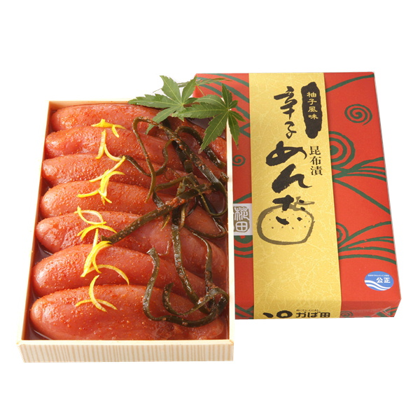 かば田の柚子風味昆布漬辛子めんたい ハイクオリティ 絶品