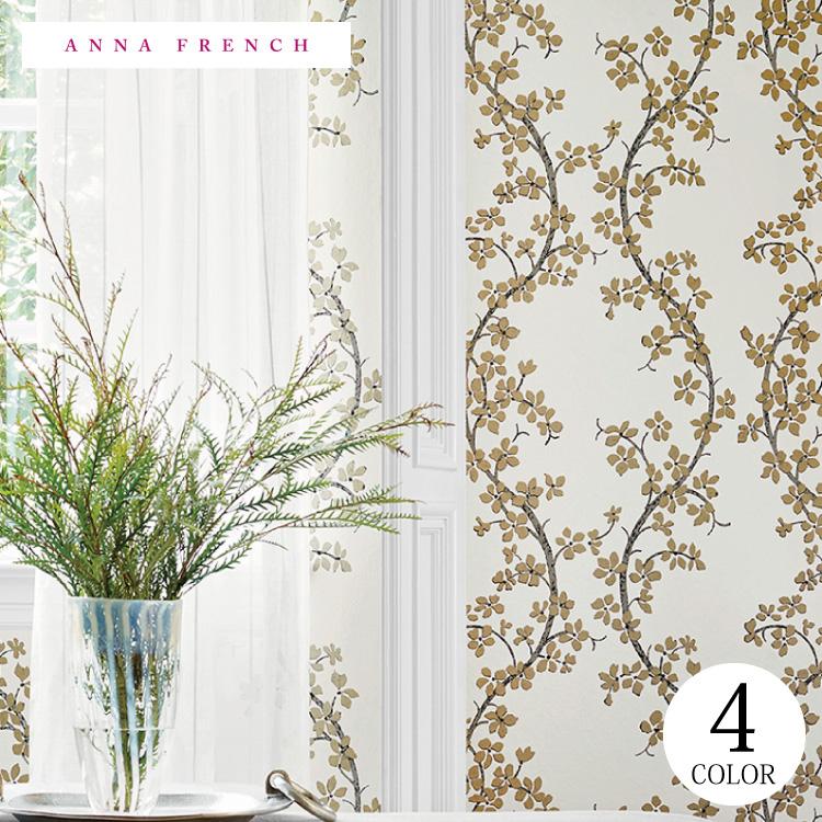 【送料無料】輸入壁紙 花柄 イギリス製 クロス のりなし 不織布 フリース 壁紙 ヨーロッパ ANNA FRENCH/アンナ・フレンチ(52cm×10m/ロール)AT6154 全4色【すぐ届く!国内在庫品】