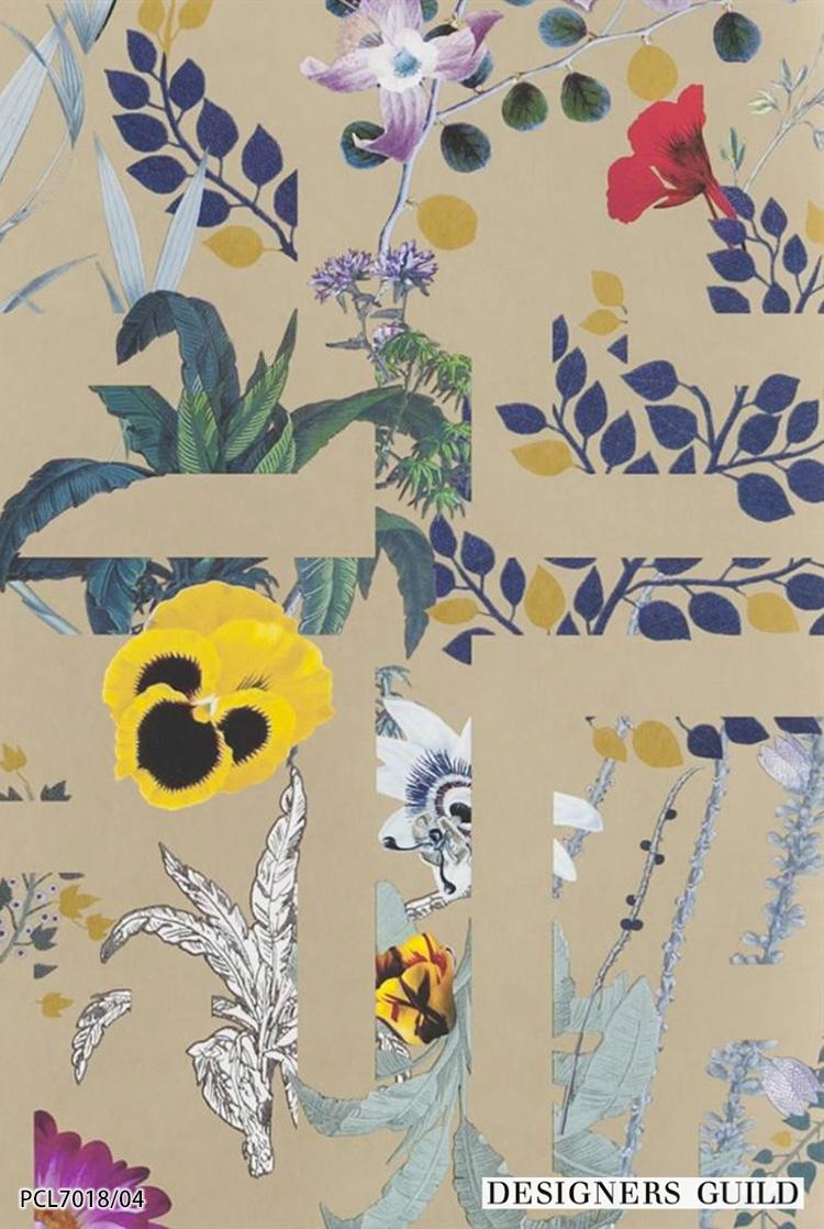 オープニングセール 不織布 のりなし クロス イギリス製 花柄 送料無料 輸入壁紙 フリース 全3色 すぐ届く 国内在庫品 Guild デザイナーズギルド 52cm 10m ロール Pcl7018 02 Designers 壁紙ヨーロッパ 壁紙 Mymagic My