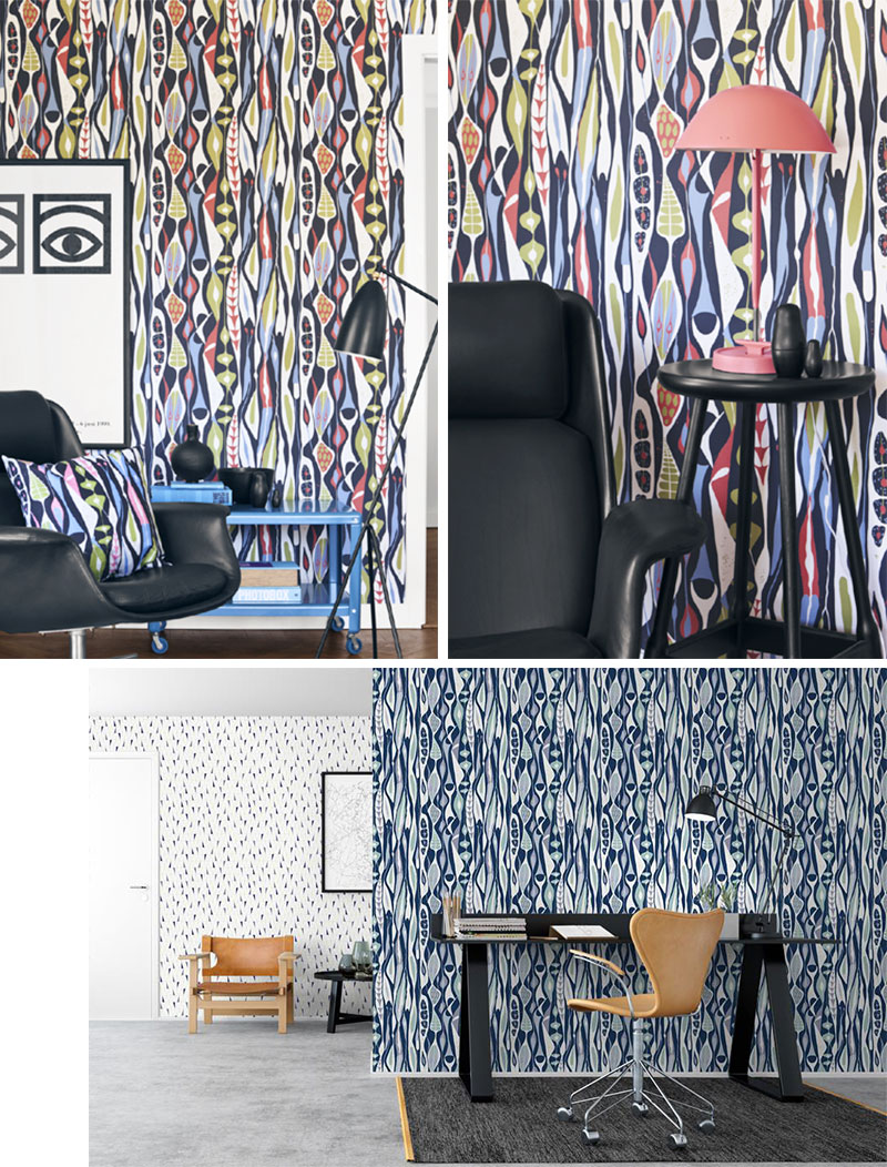 Non-woven wallpaper DIY lease post it cloth wallpaper fleece wallpaper imported wallpaper modern stylish graphical graphics [room rental but fashionable!