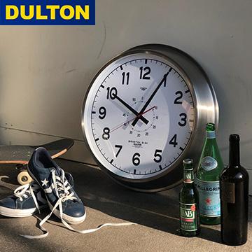 壁掛け時計【ウォールクロック】直径52cm DULTON ダルトン 時計 掛け時計 クロック アナログ 寝室 レトロ アンティーク 北欧 ディスプレイ 什器 おしゃれ レトロ 店舗 シルバー 黒 モノクロ