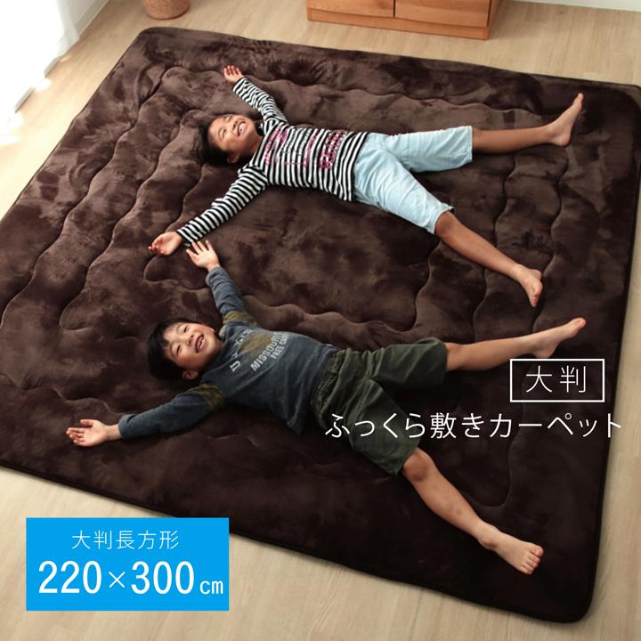 ラグ タイムセール こたつ敷き布団 長方形大 ブラウン 幅広ラグ 絶品 約220×300cm