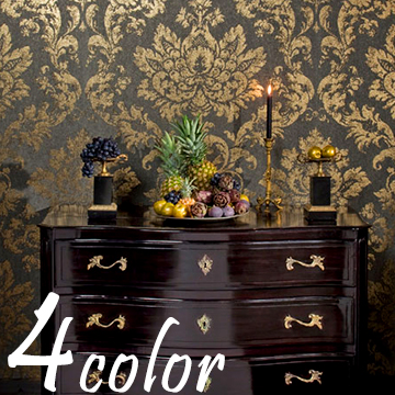 Import Wallpaper Palazzo Fleece Woven Cloth Made In Belgium Damask Pattern Luxury Gorgeous