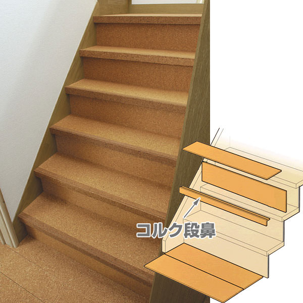 Cork: Cork Renewal Stairs Cork Nosing Full Color Leg Friendly Stair Cork  Nosing. To Paste Over The Accident Prevention! Rick Holiday!