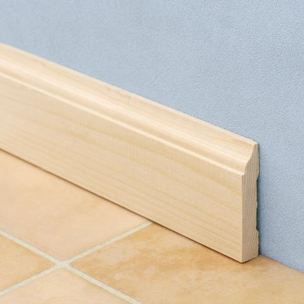 無塗装だからいろいろアレンジできる モールディング ベースボード 巾木 H625ベイツガ 1本単位で発売 無塗装 新作送料無料 10.1mm×57.1mm×長さ約1.8m メーカー直送代引き不可 特別セール品