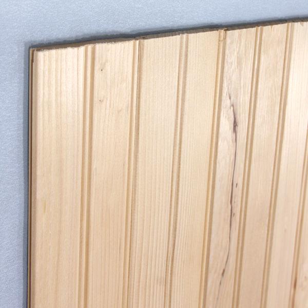 サウダーパネリング[板壁パネル H216ベイツガ 無塗装 8mm×78mm×長さ約2.44m15枚入り(約2.85平米)]
