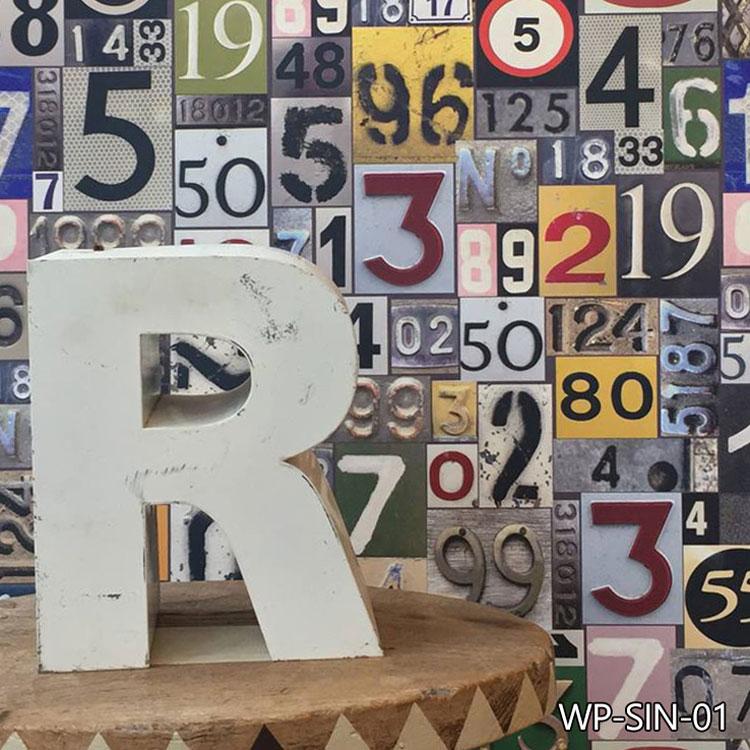 はってはがせる輸入壁紙 イギリス製 ユカリ・スウィーニー Safety in numbers1ロール(52cm×10m)単位で販売フリース壁紙(不織布)