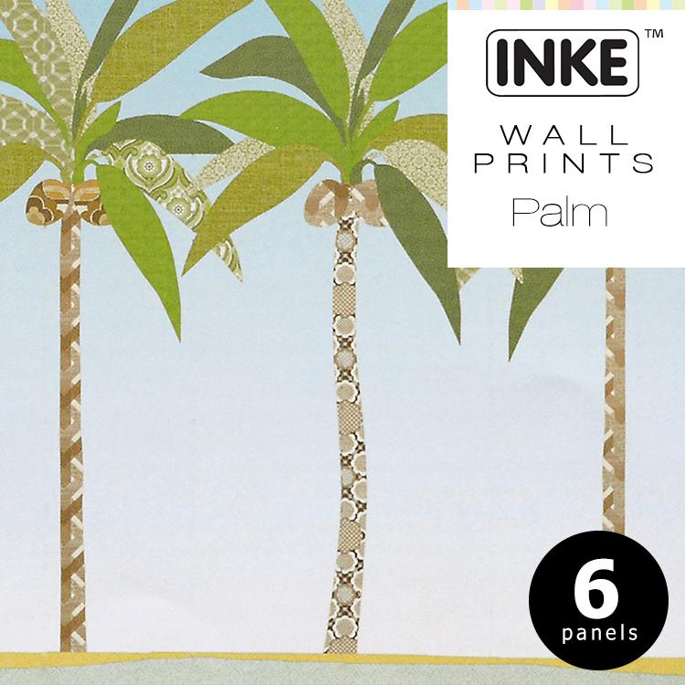 輸入壁紙 オランダ製 インケ Palm (6 panel)6パネル1セットフリース壁紙(不織布)