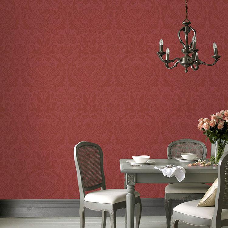 GRAHAM BROWN UK Imported Wallpaper あす楽対応 はってはがせる ファッション通販 輸入 壁紙イギリス製 Red1ロール お求めやすく価格改定 アンド ブラウン 52cm×10m 単位で販売フリース壁紙 50-909 グラハム 不織布