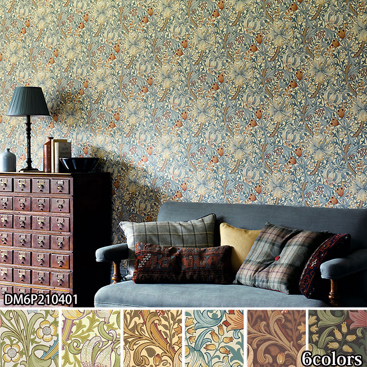輸入壁紙 イギリス製 MORRIS & Co. / モリス (1ロール(52cm×10m)単位で販売) 紙系 壁紙 海外取り寄せ品のため発送まで16~30日かかります 壁紙屋本舗