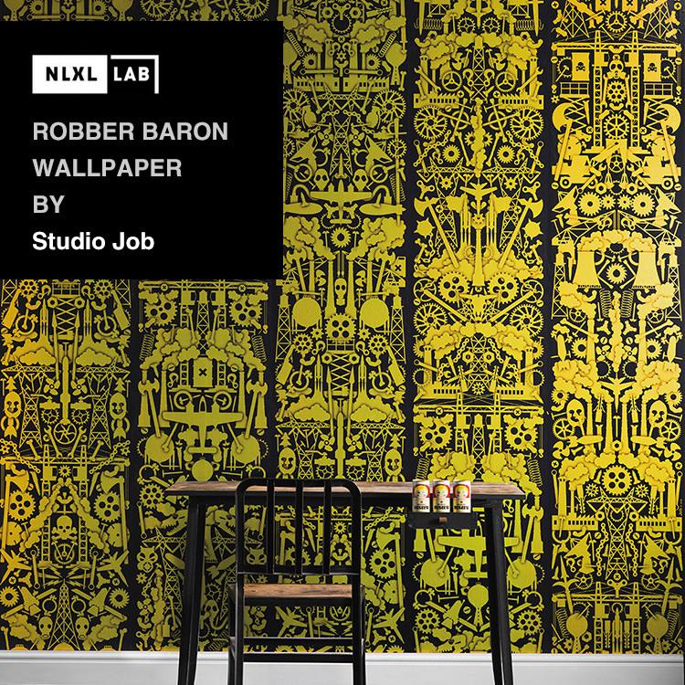 輸入壁紙 オランダ製NLXL LAB Robber Baron Wallpaper / Studio Job エヌエルエックスエル・ラボ(1ロール(48.7cm×9m)単位で販売)フリース(不織布)【国内在庫】