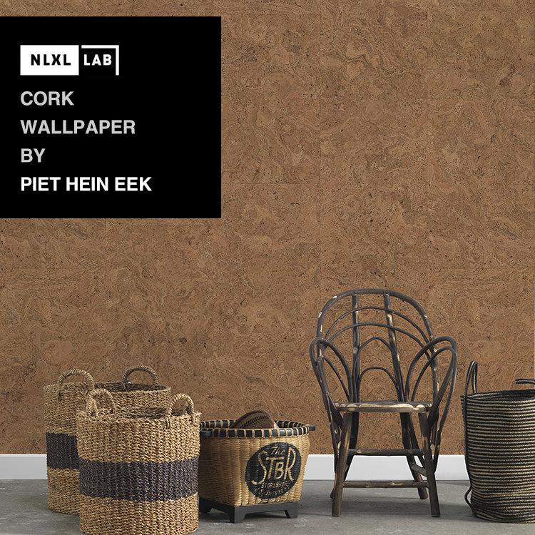 輸入壁紙 オランダ製NLXL LAB Cork Wallpaper / Peit Hein Eek エヌエルエックスエル・ラボ(1ロール(48.7cm×10m)単位で販売)フリース(不織布)【国内在庫】