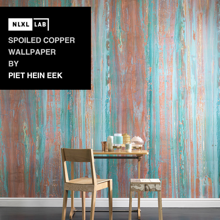 輸入壁紙 オランダ製NLXL LAB Spoiled Copper Wallpaper / Peit Hein Eek エヌエルエックスエル・ラボ(1ロール(48.7cm×10m)単位で販売)フリース(不織布)【国内在庫】