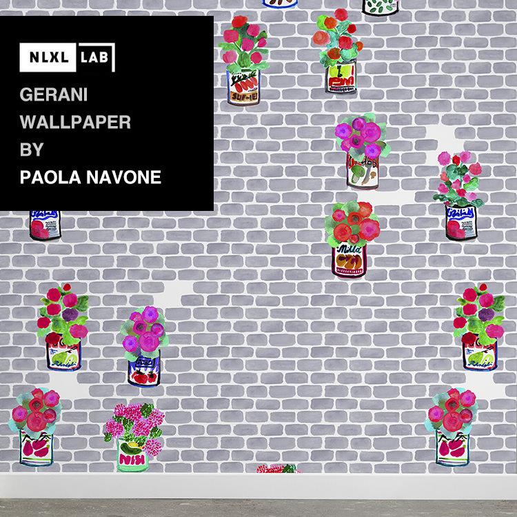 輸入壁紙 オランダ製NLXL LAB Gerani Wallpaper / Paola Navone エヌエルエックスエル・ラボ(1ロール(48.7cm×10m)単位で販売)フリース(不織布)【国内在庫】