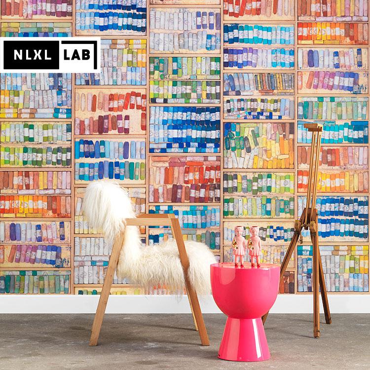 輸入壁紙 オランダ製 NLXL LAB COLORED CHALK WALLPAPER BY MR & MRS VINTAGE / MRV-09(1ロール(48.7cm×10m)単位で販売)フリース(不織布)【国内在庫】【あす楽対応】【あす楽対応】