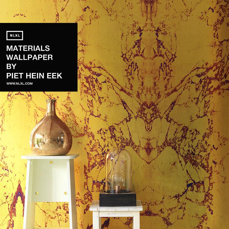 輸入壁紙 オランダ製 NLXL / MATERIALS WALLPAPER BY PIET HEIN EEK GOLD MARBLE / PHM-80 & 81(2本セット(48.7cm×10m)単位で販売)フリース(不織布)【海外取り寄せ商品】