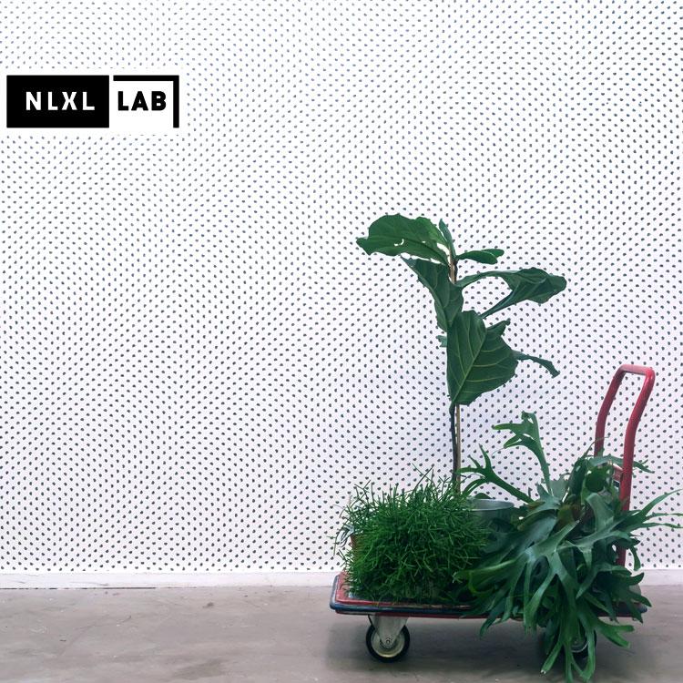 輸入壁紙 オランダ製 NLXL / NLXL LAB PARTICLES WALLPAPER BY TRULY TRULY / TTY-01 WHITE(1ロール(48.7cm×9m)単位で販売)フリース(不織布)【海外取り寄せ商品】