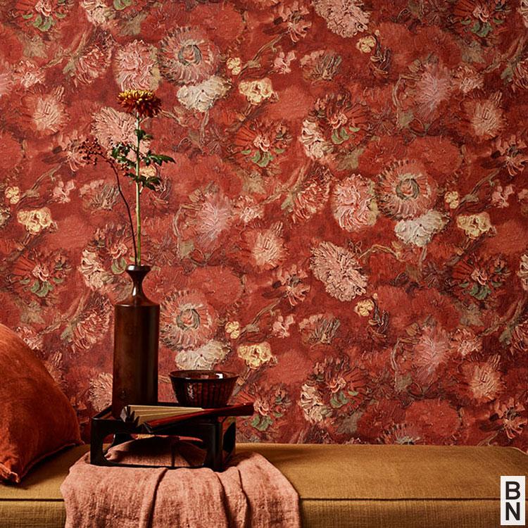 【10%OFFクーポン配布中!5/31まで】輸入壁紙 BN(ビーエヌ) VAN GOGH MUSEUM / 220000(THE BLOOMING HOUSE7)(1ロール(53cm×10m)単位で販売)フリース(不織布)【国内在庫】