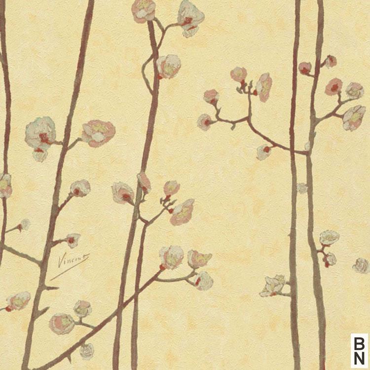 輸入壁紙 BN(ビーエヌ) VAN GOGH MUSEUM / 220025(THE BLOOMING HOUSE7)(1ロール(53cm×10m)単位で販売)フリース(不織布)【国内在庫】