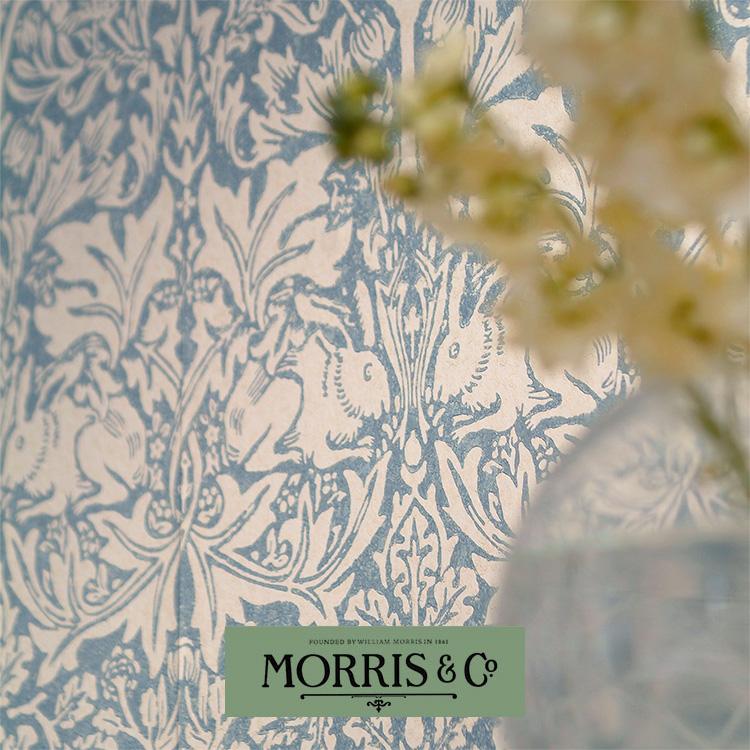 輸入壁紙 イギリス製 MORRIS & Co. / モリス (1ロール(52cm×1000cm)単位で販売) 紙系 壁紙 壁紙屋本舗