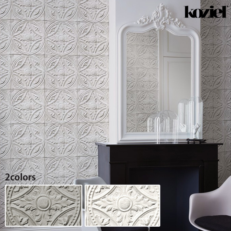 KOZIEL France Imported Wallpaper はってはがせる 輸入 単位で販売フリース壁紙 不織布 贈答品 手数料無料 53cm×10m コジエル 1ロール 壁紙フランス製