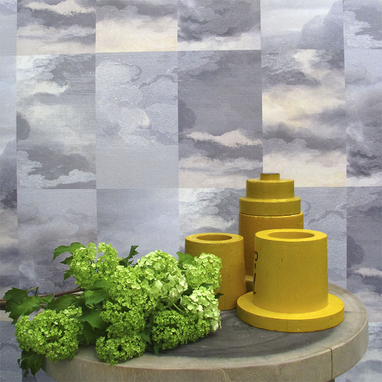 はってはがせる 輸入 壁紙イギリス製 デシモン・ウェイランド Dutch Sky Wallpaper VIolet1ロール(48.7cm×900cm)単位で販売フリース壁紙(不織布)