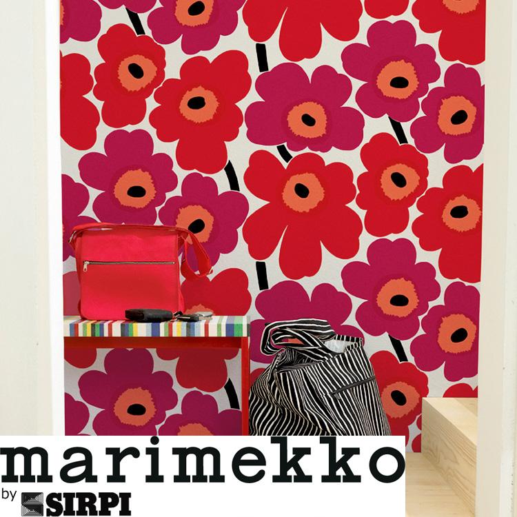 マリメッコ 壁紙 ウニッコ marimekko UNIKKO/13070 130711ロール(70cm×10m)単位で販売フリース壁紙(不織布) 壁紙屋本舗