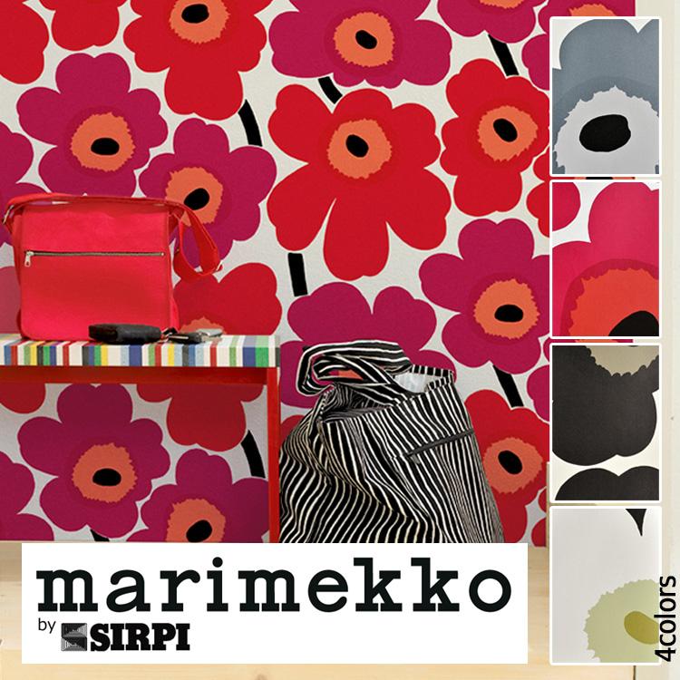 マリメッコ 壁紙 ウニッコ marimekko UNIKKO/13070 13071 13072 130741ロール(70cm×10m)単位で販売フリース壁紙(不織布)