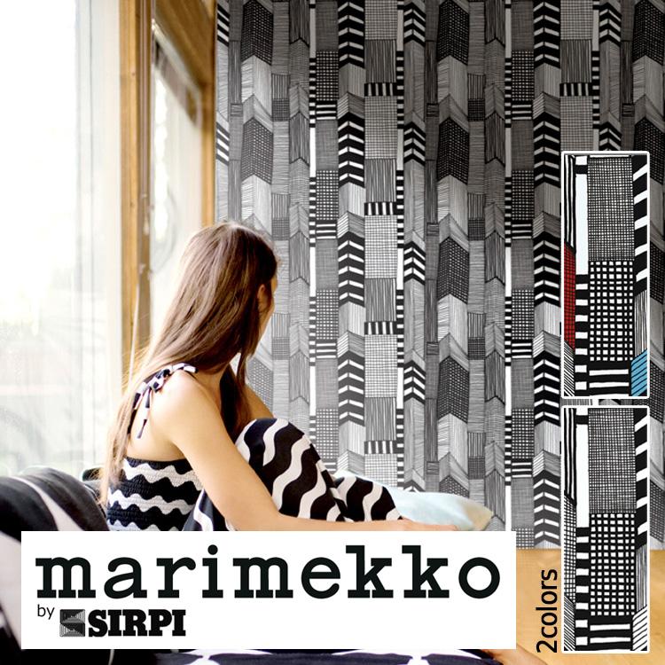 マリメッコ 壁紙 marimekko RUUTUKAAVA/14110 14111 1ロール(70cm×10m)単位で販売 フリース壁紙(不織布) 壁紙屋本舗