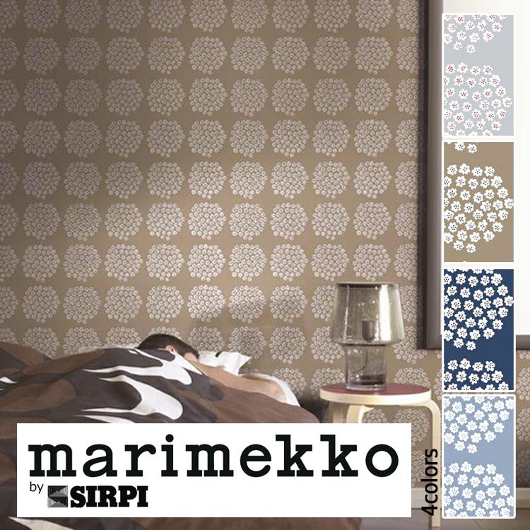 マリメッコ 壁紙 marimekko PUKETTI/17910 17911 17912 17913 1ロール(53cm×10m)単位で販売 フリース壁紙(不織布) 壁紙屋本舗