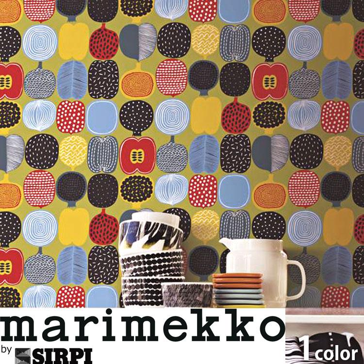 マリメッコ 壁紙 marimekko KOMPOTTI/17935 1ロール(53cm×10m)単位で販売 フリース壁紙(不織布) 壁紙屋本舗