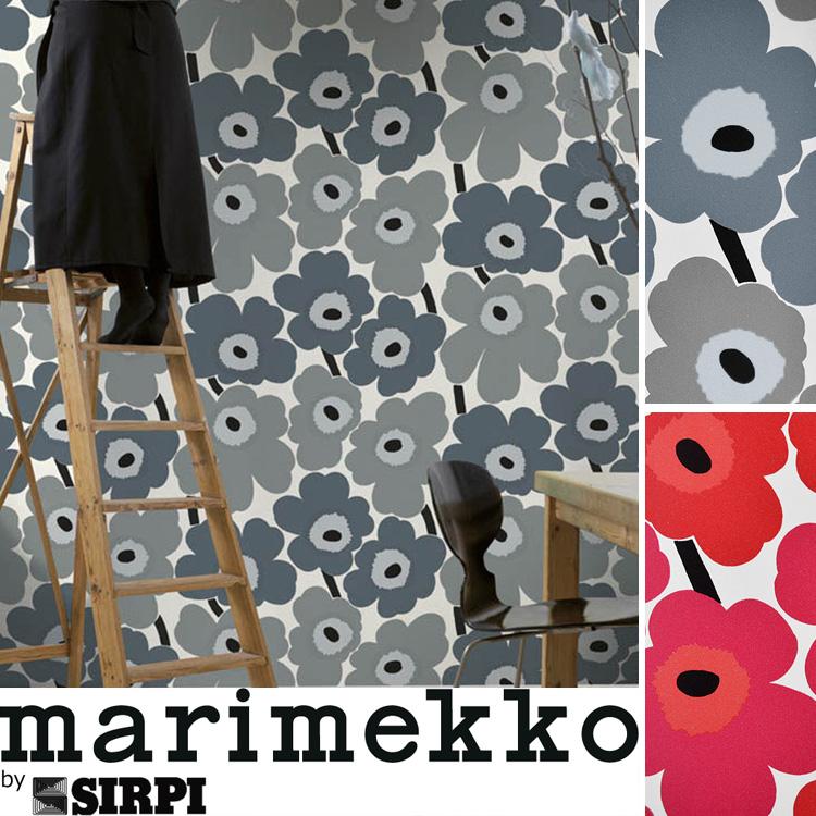 マリメッコ 壁紙 ウニッコ marimekko UNIKKO/23353 233541ロール(70cm×10m)単位で販売フリース壁紙(不織布) 壁紙屋本舗