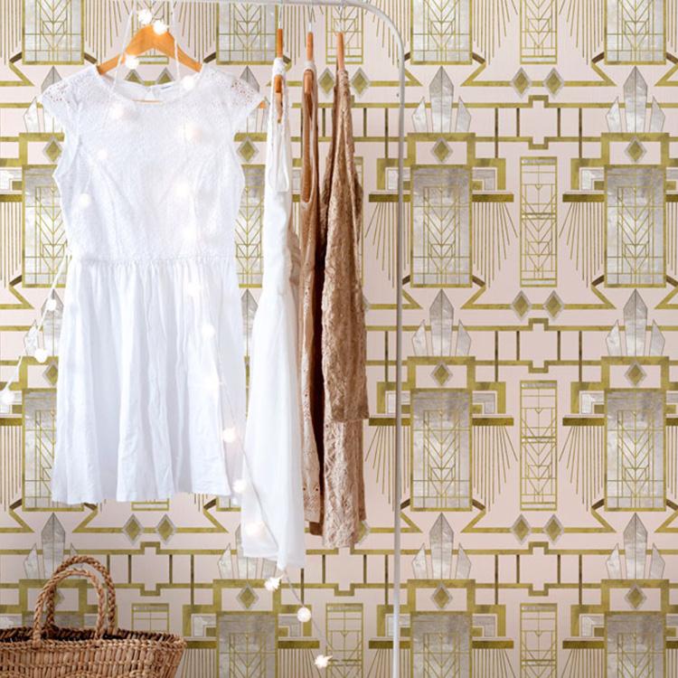 輸入壁紙マインド・ザ・ギャップ WP20227フリース(不織布)(巾156cm×高さ3m 3パネル 1セット単位で販売)
