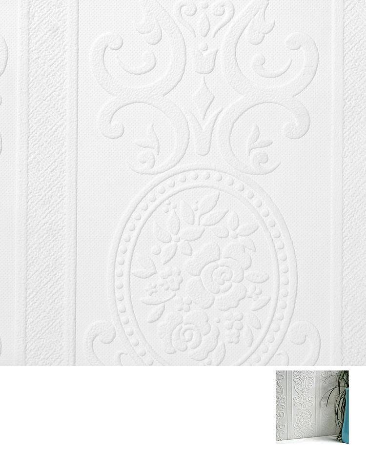 Import British-made Anaglypta wallpaper (anaglypta) paint Undercoat wallpaper / CWV (sold in units of 1 roll (53 cm x 10 m)) chloride vinyl wallpaper