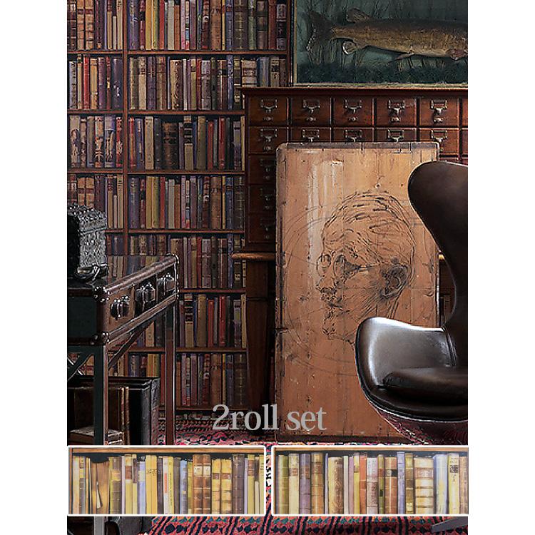 輸入壁紙 イギリス製 LIBRARY / アンドリューマーチン (2本セット(68cm×10m))紙系壁紙 【国内在庫品】【あす楽対応】