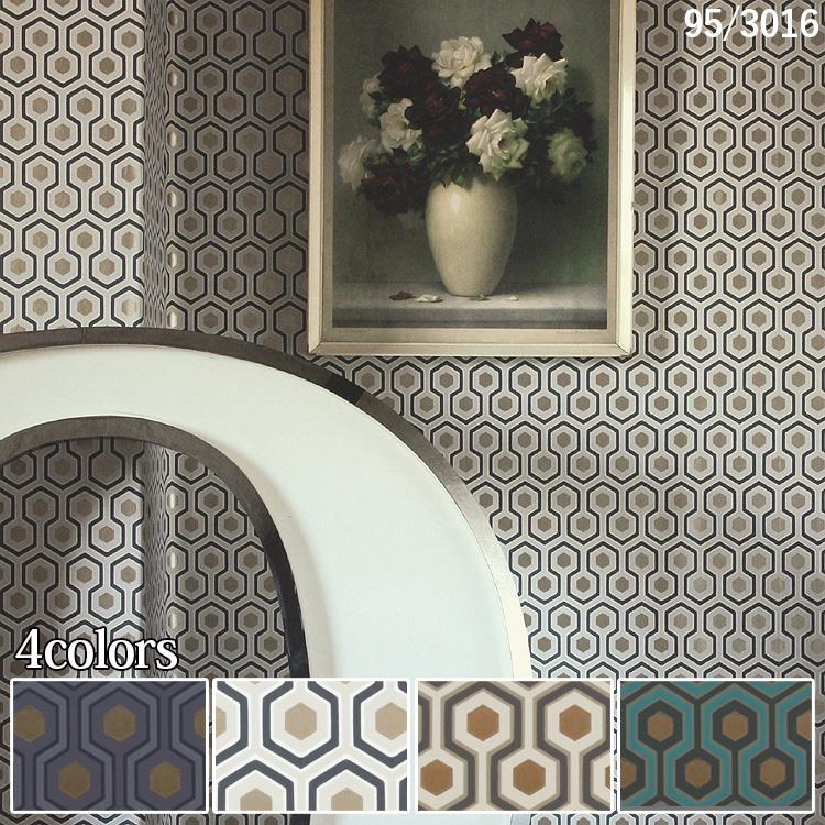 輸入壁紙 イギリス製 コール・アンド・サン Hick's Hexagon 1ロール(53cm×10m)単位で販売 フリース壁紙(不織布) 【海外取寄】 壁紙屋本舗